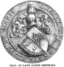 Seal of Janet Hepburn, Lady Seton and foundress of the Convent of Sciennes in Edinburgh, wife of George 5th Lord Seton who was killed at Flodden in 1512.