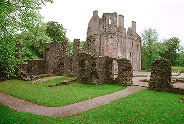 The inner courtyard - Huntly Castle, Aberdeenshire