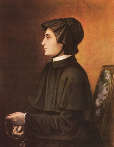 The Filicchi Portrait of St. Elizabeth Ann Seton, dated 1804. click to view large